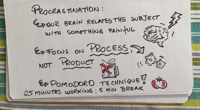 Ilustração dizendo que nosso cérebro associa o que precisamos fazer a algo doloroso e isso faz com que queíramos procrastinar.